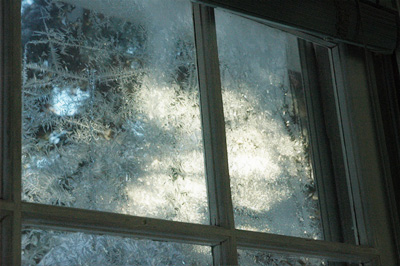 this morning I look out of frosty windows
